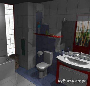 PRO100 - дизайн ванной