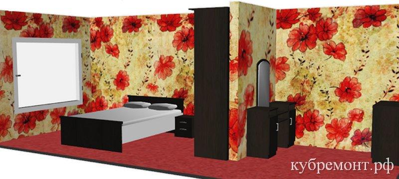 Проект спальни - Дизайн интерьера 3D