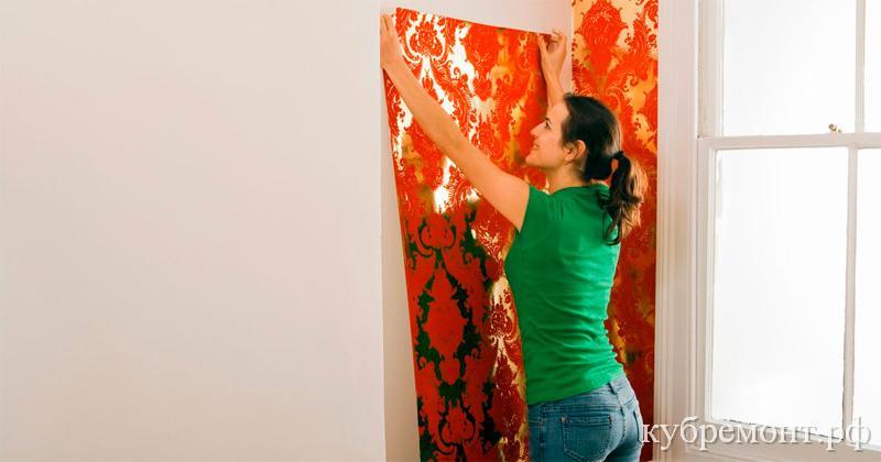 Варианты отделки стен в квартире - обои